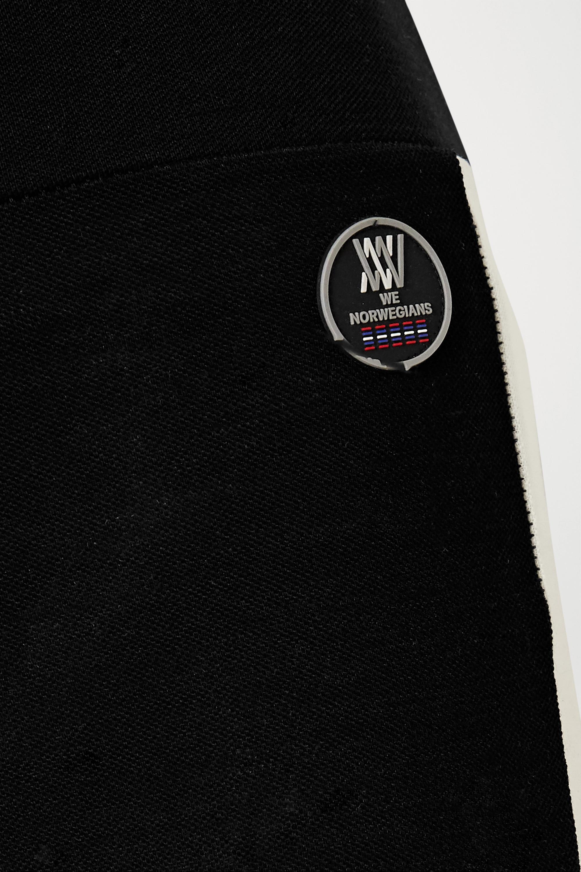 We Norwegians Voss striped merino wool-blend piqué leggings
