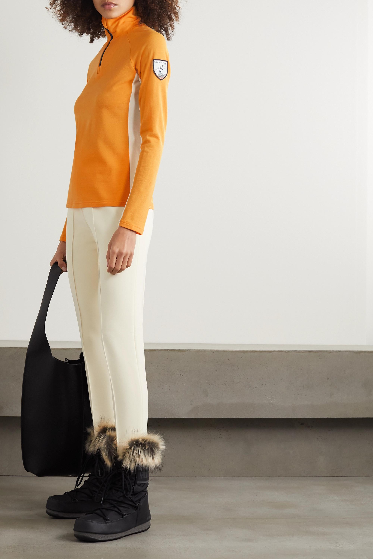 We Norwegians Voss merino wool-blend piqué top