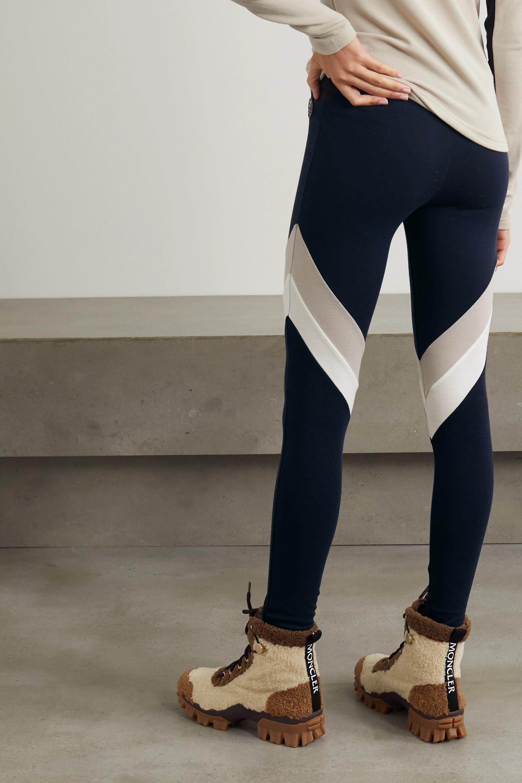 We Norwegians Voss color-block merino wool-blend piqué leggings