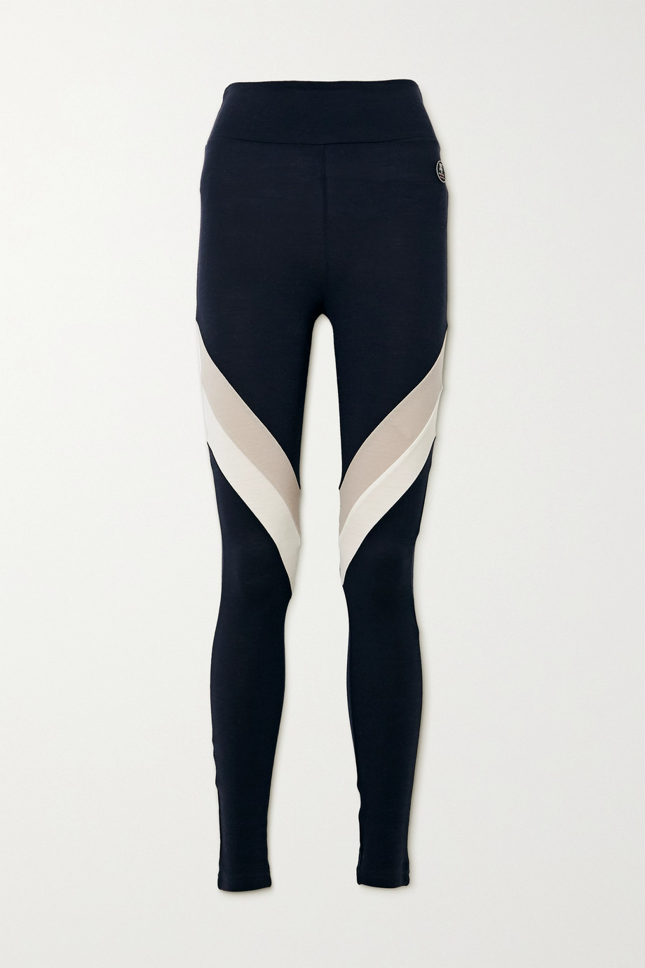 We Norwegians Voss color-block merino wool-blend piqué leggings