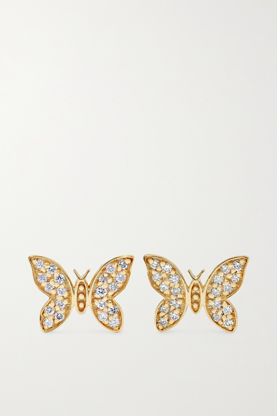 Sydney Evan 14-karat gold diamond earrings