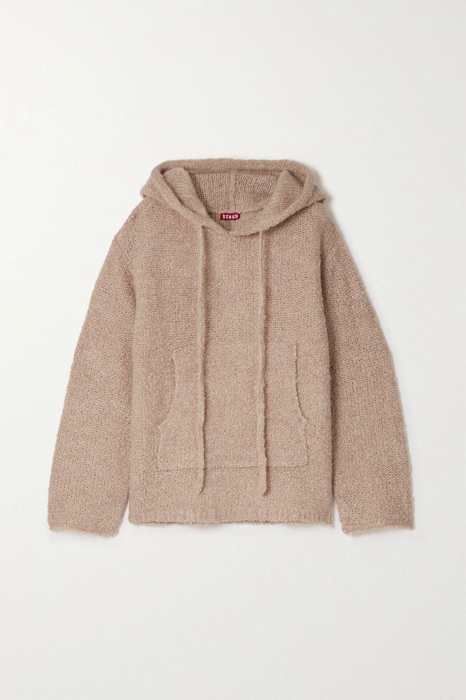 STAUD Cheech bouclé hoodie