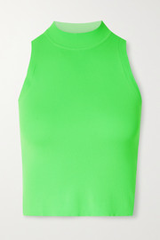 Adam Selman Sport Cropped neon stretch tank