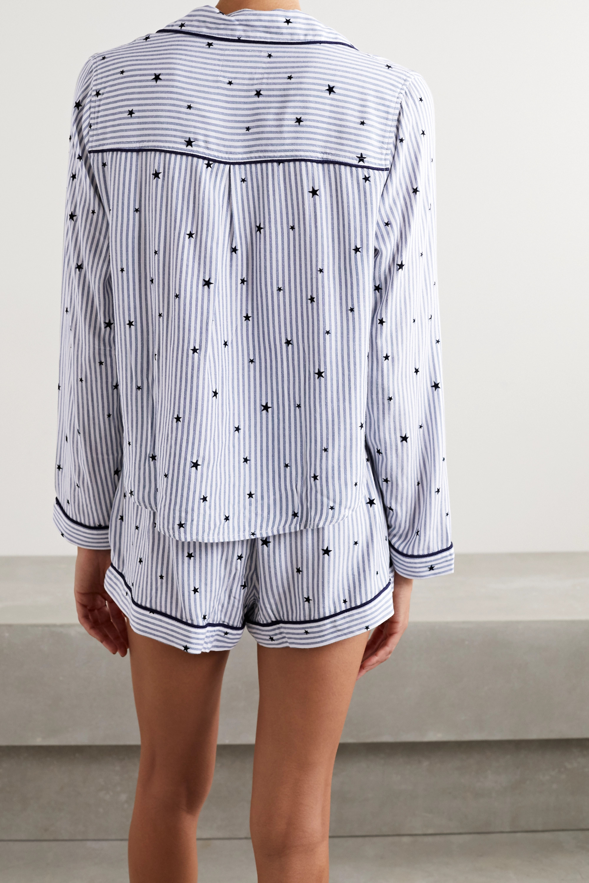 Rails Kellen flocked striped voile pajama set