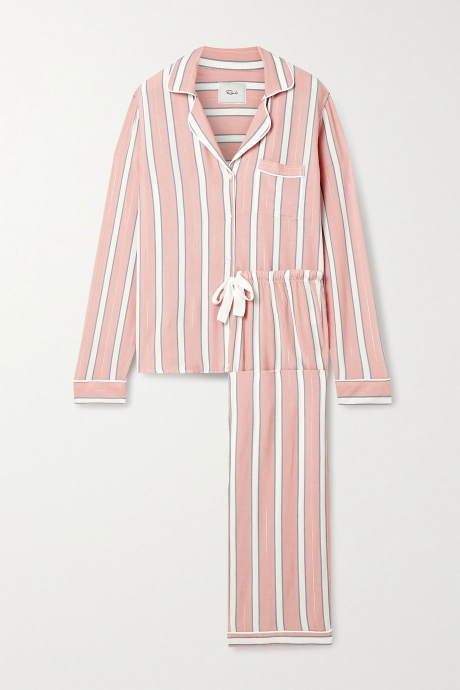 Rails Clara metallic striped voile pajama set