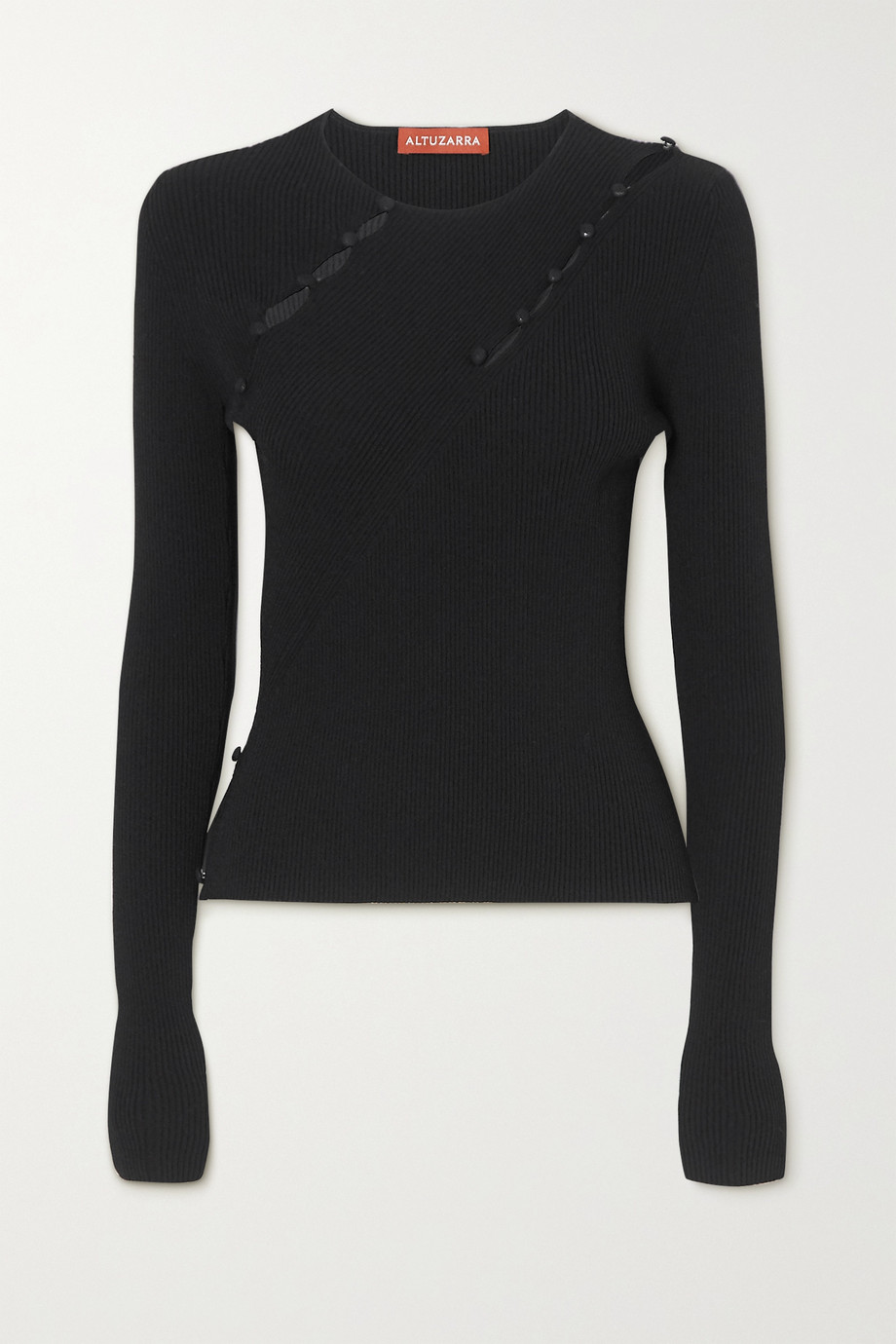 Altuzarra Margie button-detailed cutout ribbed-knit top