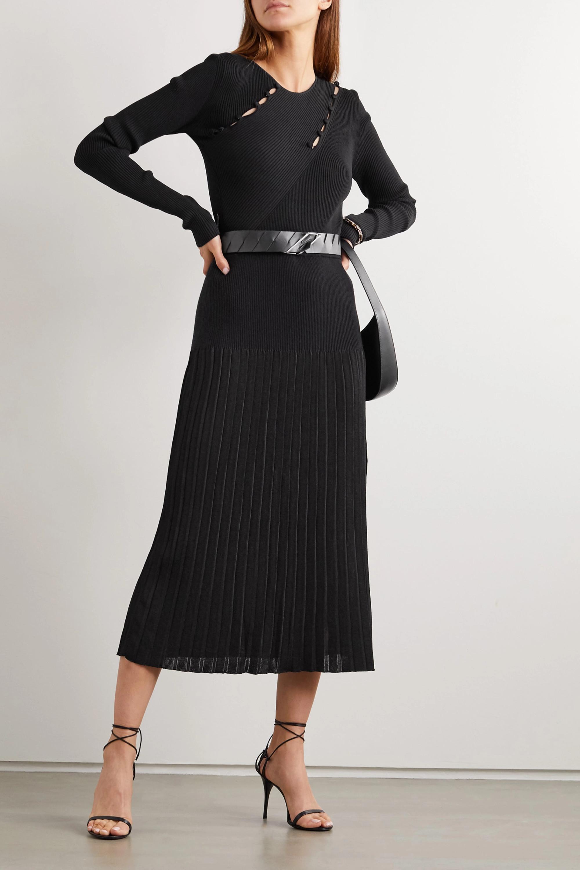 Altuzarra Margie button-detailed cutout ribbed-knit top