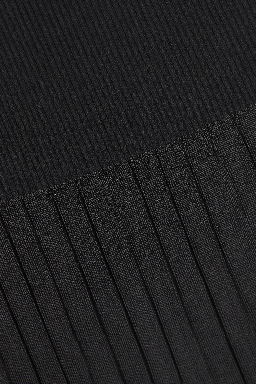 Black Dean Pleated Stretch-knit Midi Skirt   Altuzarra