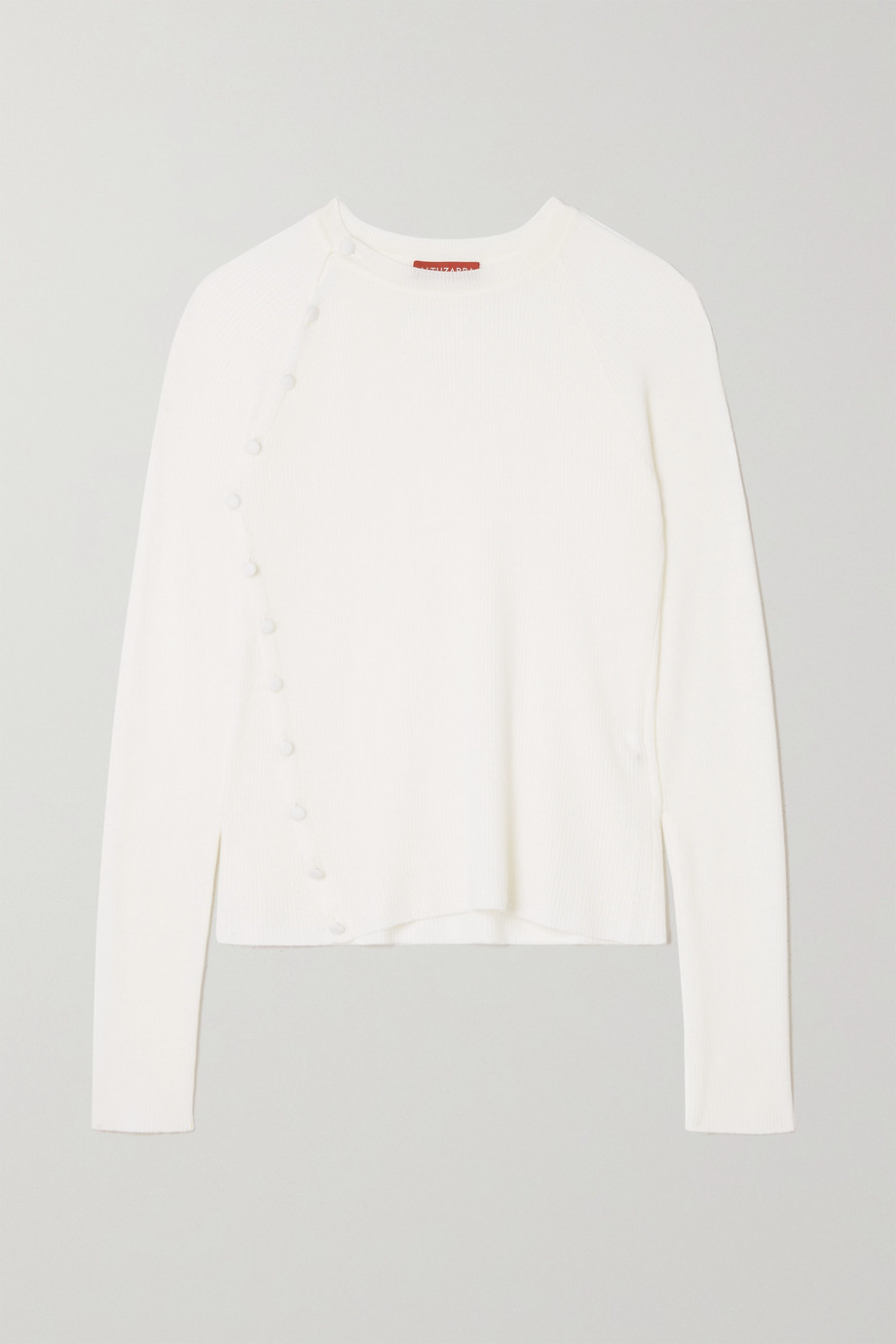 Altuzarra Lucy button-embellished ribbed wool sweater