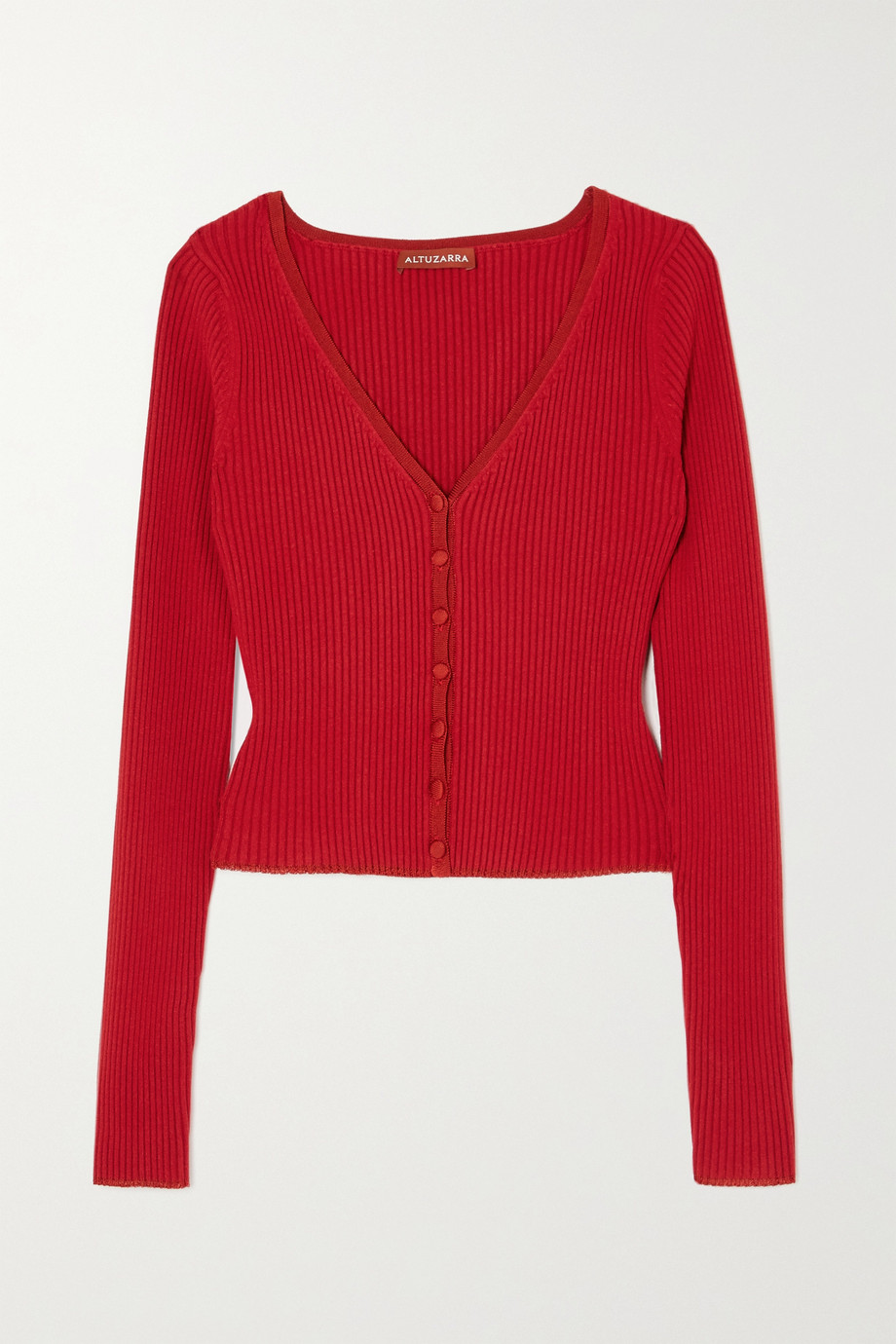 Altuzarra Eva ribbed stretch-knit cardigan