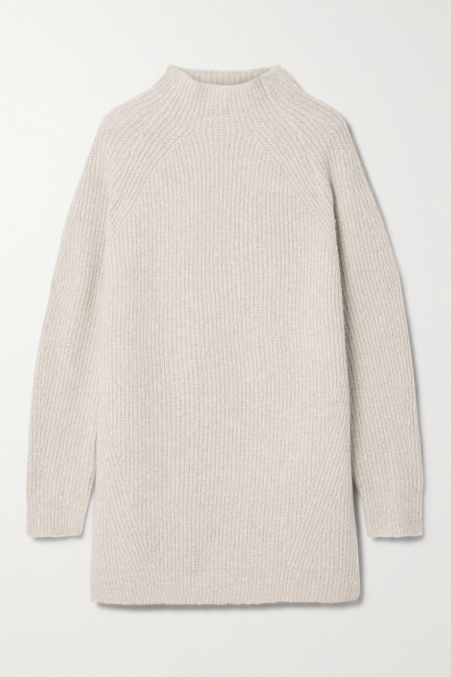 By Malene Birger Calea Oversized-Pullover aus einer gerippten Merinowollmischung mit Stehkragen