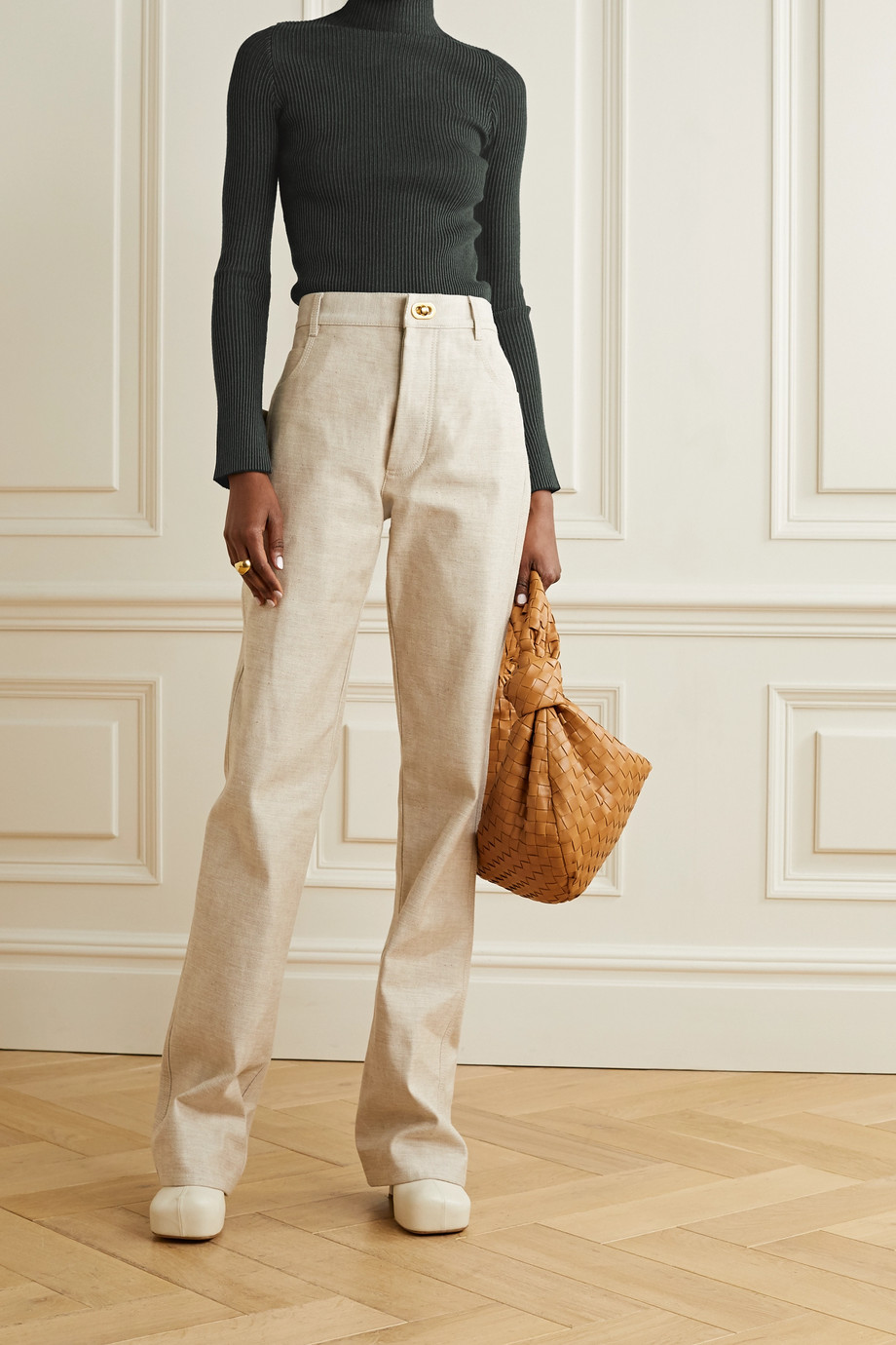 By Malene Birger Cissus ribbed-knit turtleneck top