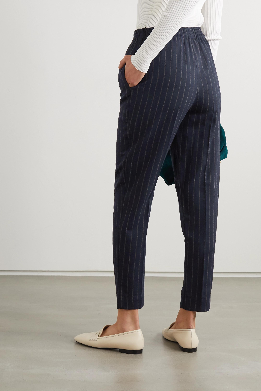 By Malene Birger Pantalon fuselé tissé à fines rayures Florah