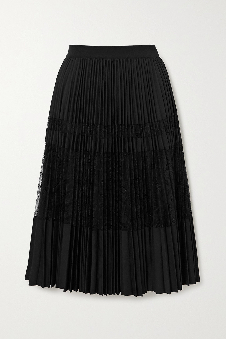 By Malene Birger Dax pleated lace midi skirt