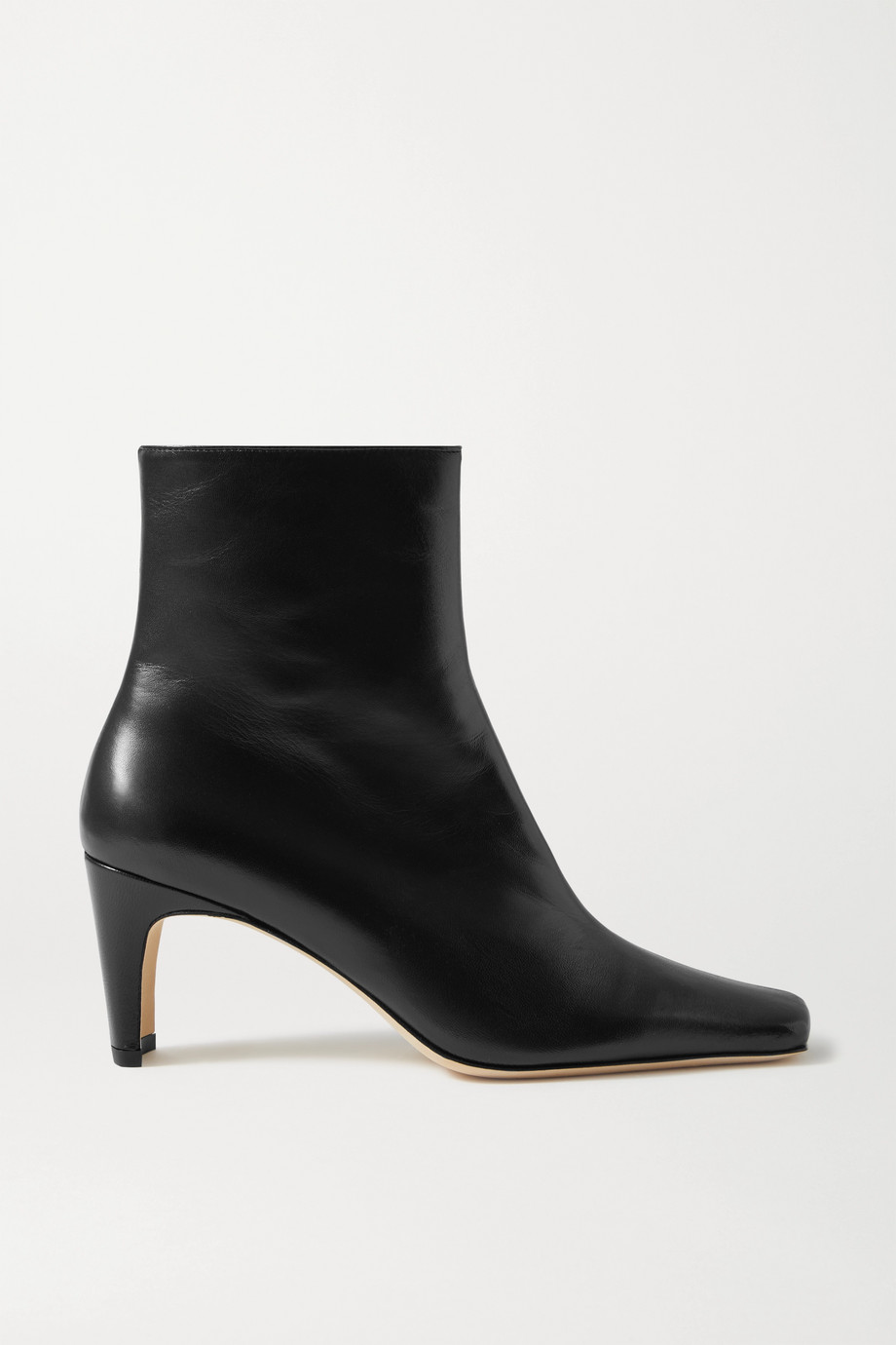 STAUD Eva leather ankle boots