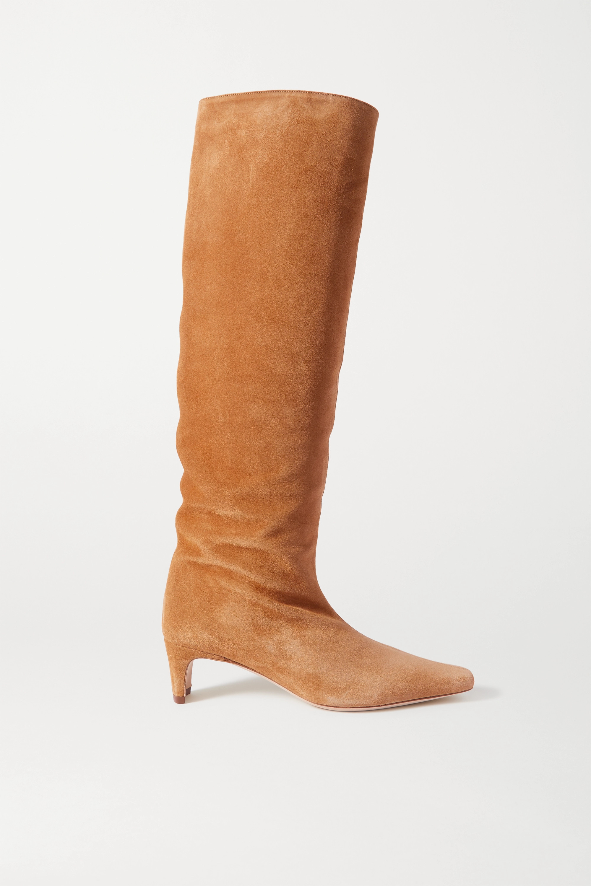 STAUD Wally suede knee boots