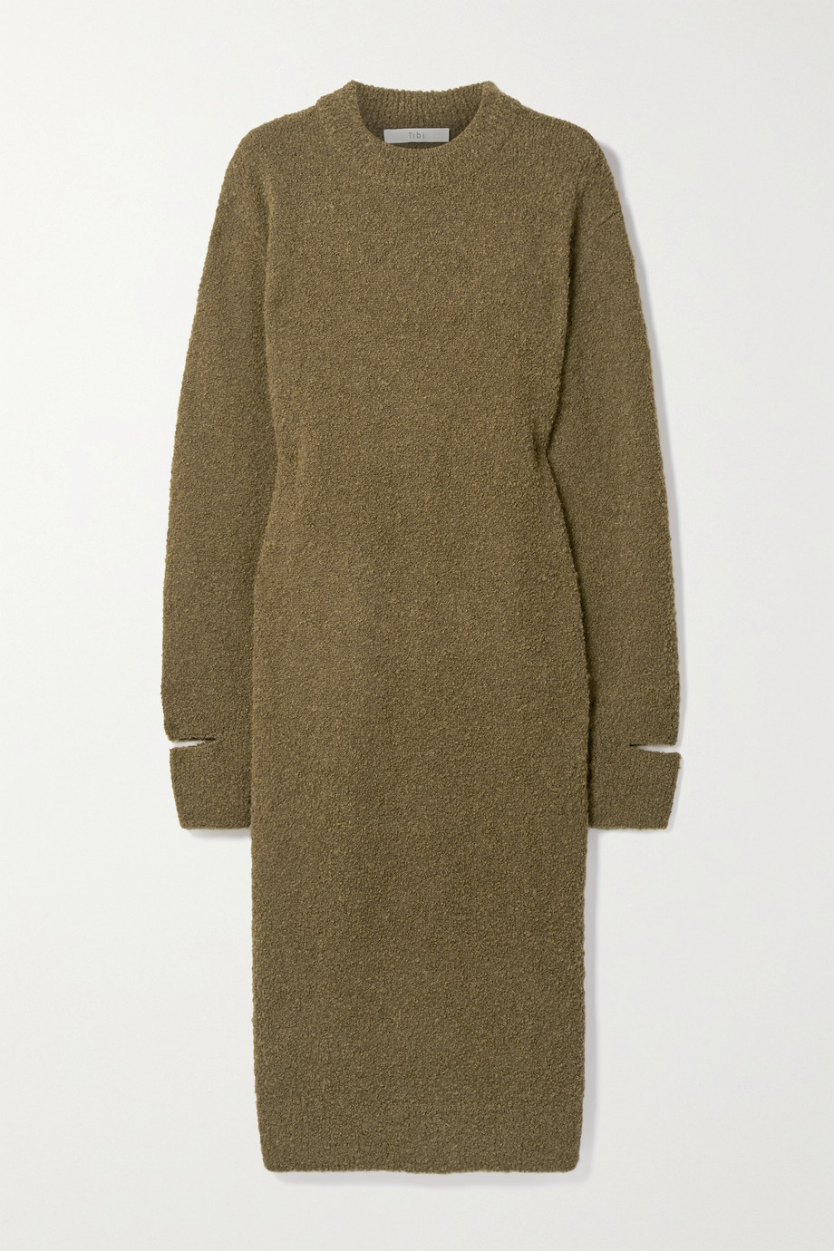 Tibi Alpaca-blend bouclé midi dress