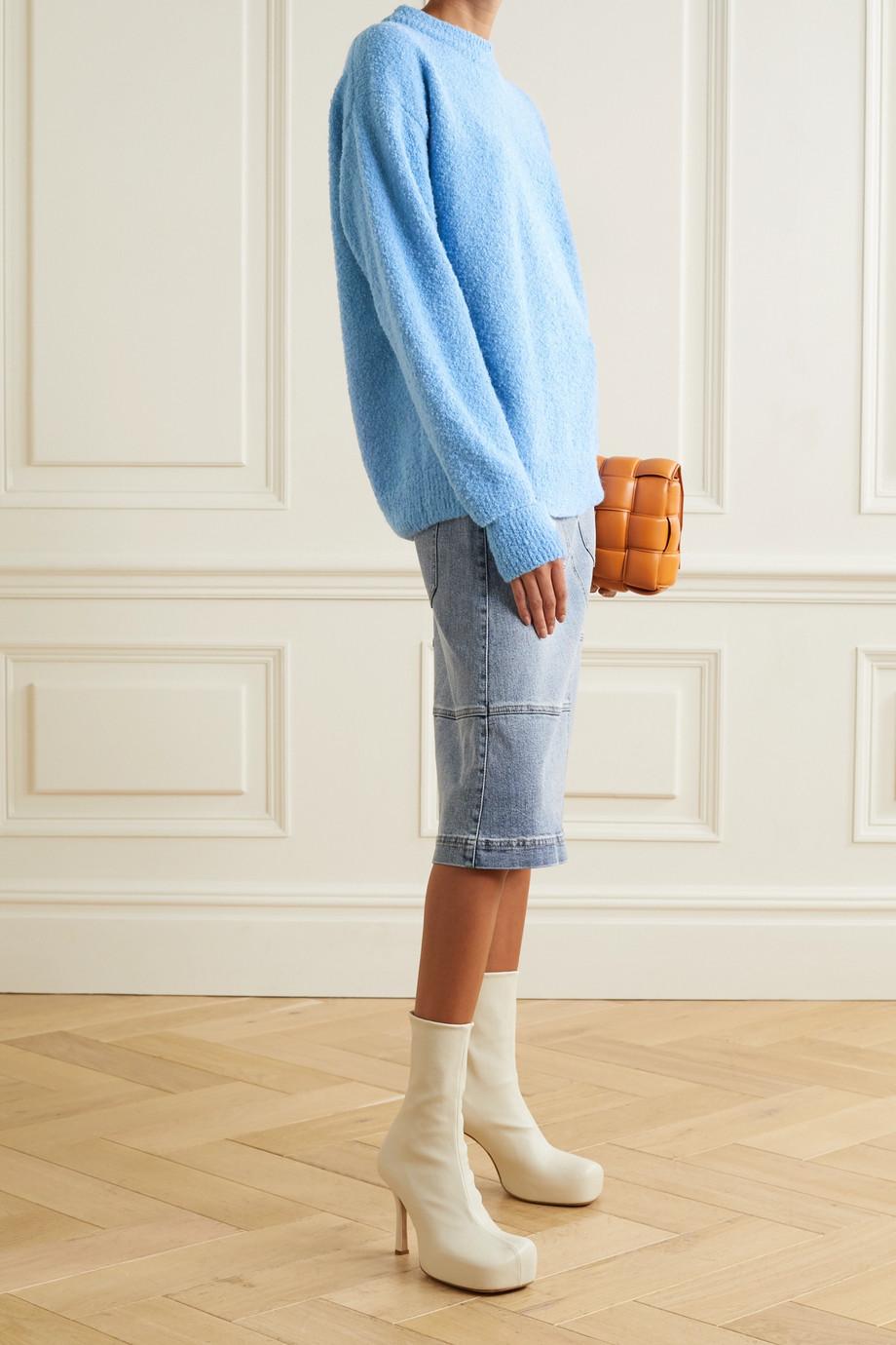 Tibi Alpaca-blend bouclé sweater