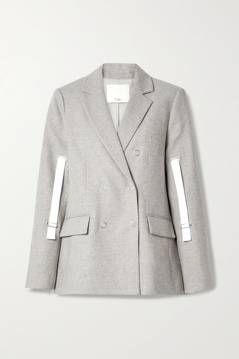 Tibi Lola canvas-trimmed tweed blazer