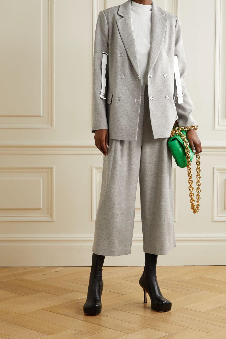 Tibi Lola Blazer aus Tweed mit Canvas-Besätzen