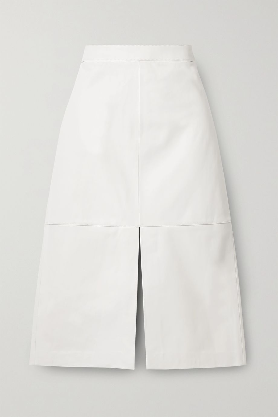 Tibi Leather midi skirt