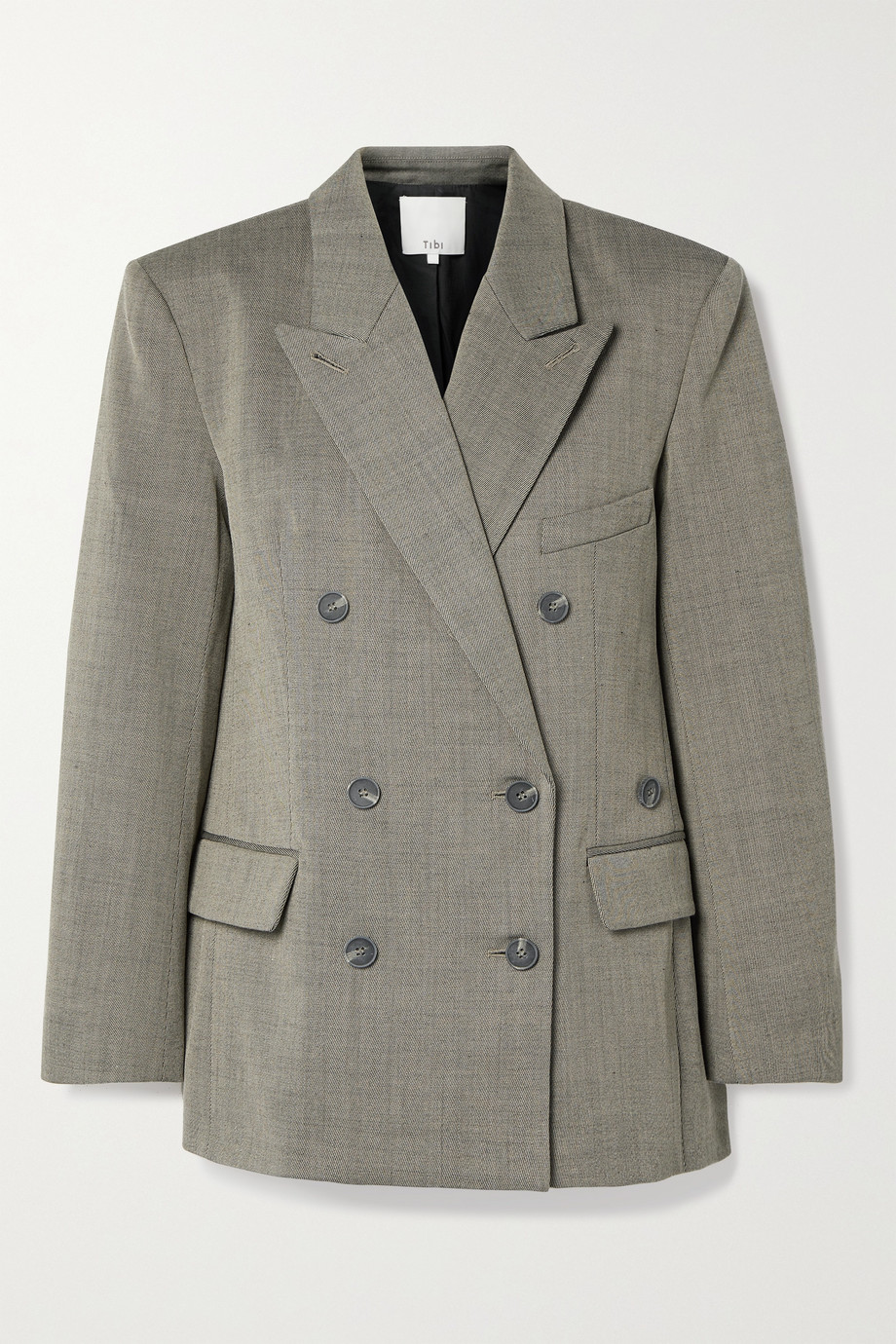 Tibi Luka double-breasted twill blazer