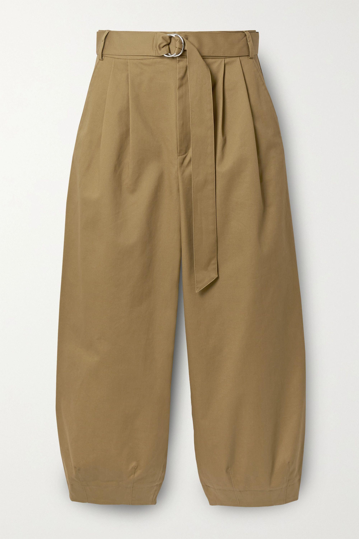 Tibi Pantalon fuselé raccourci en serge de coton mélangé à plis Myriam