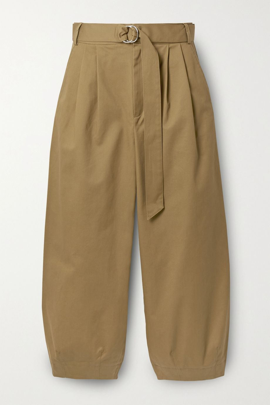 Tibi Myriam cropped pleated cotton-blend twill tapered pants