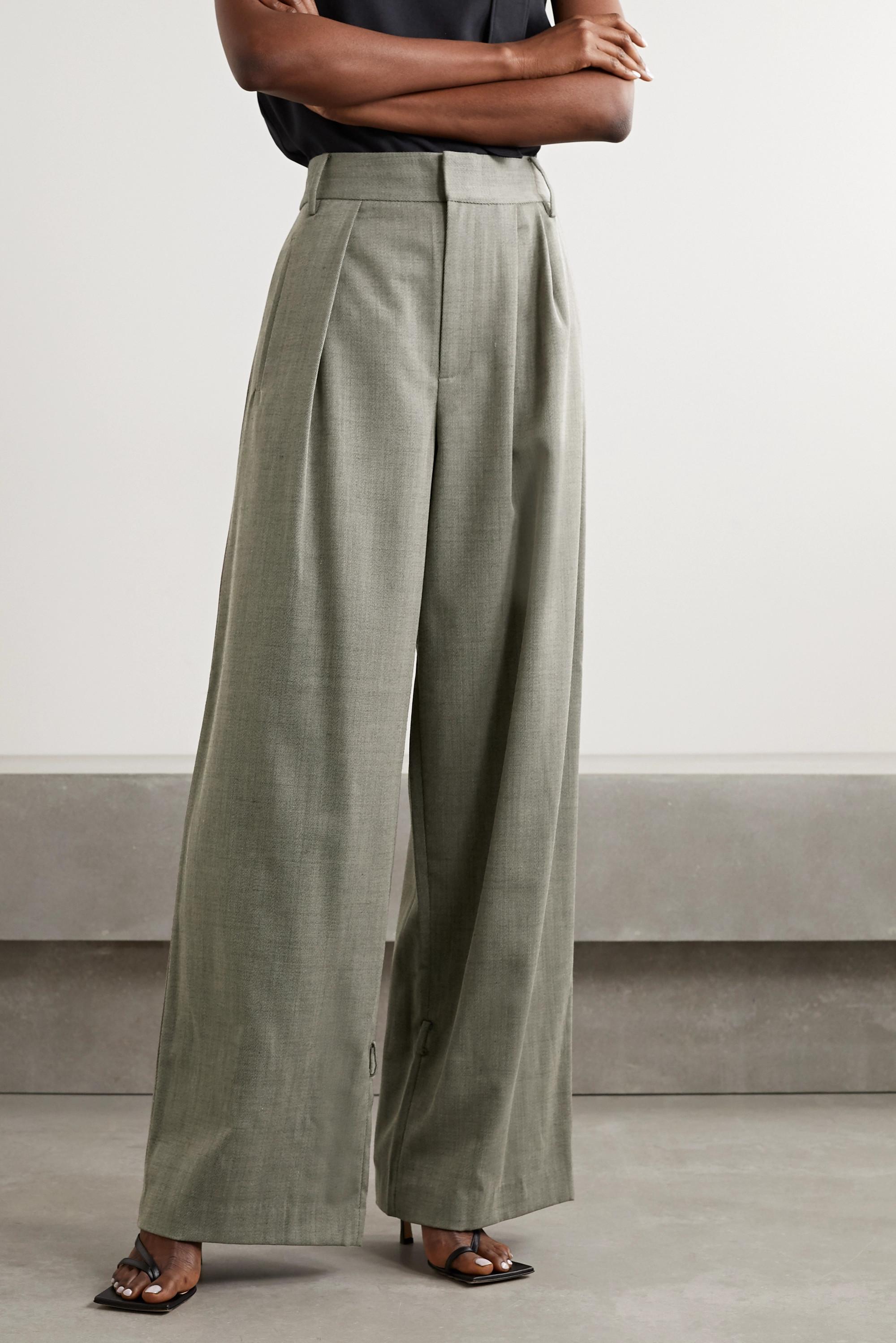 Tibi Luka pleated twill tapered pants