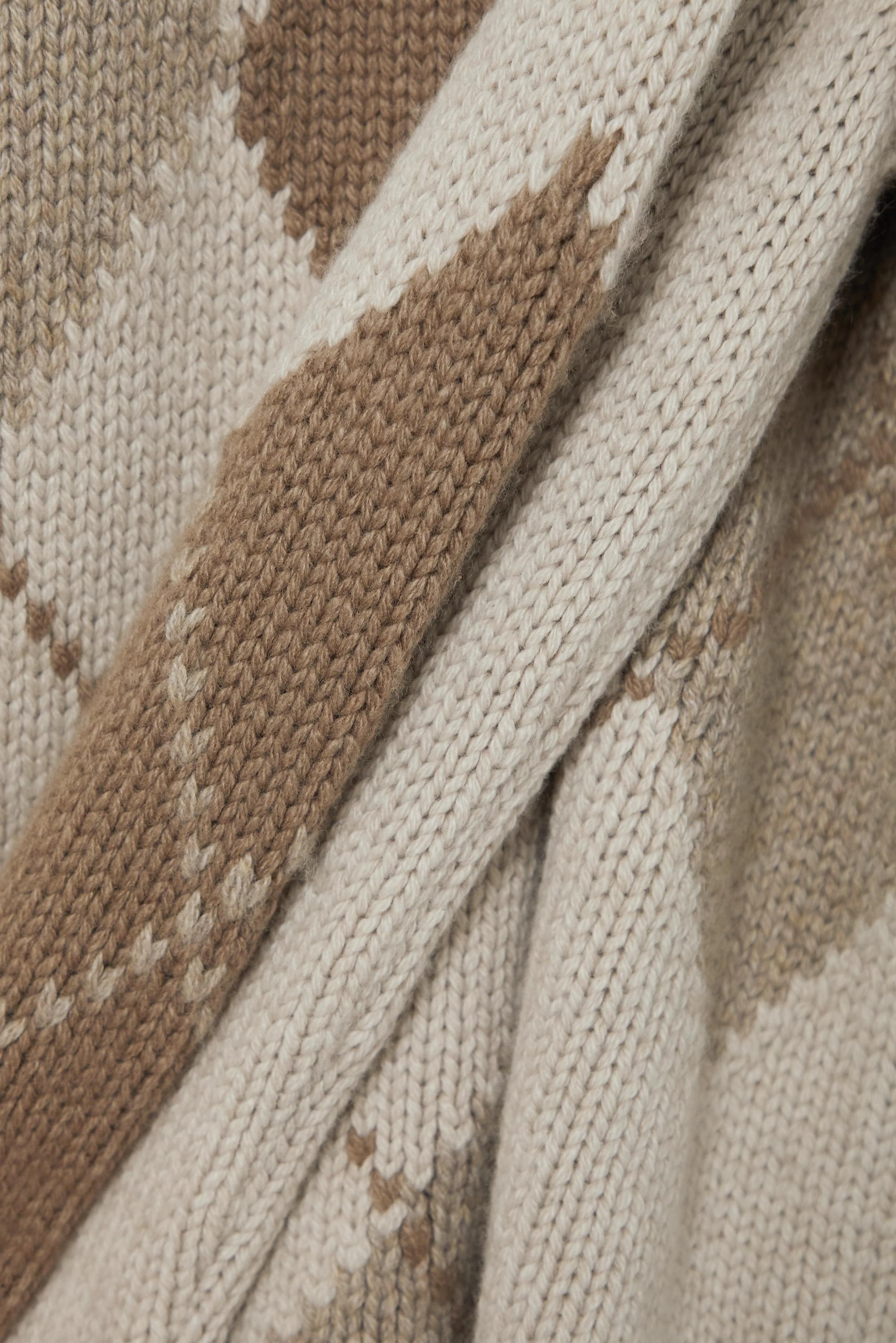 Loro Piana Macdougal Rollkragenpullover aus Kaschmir mit Argyle-Muster