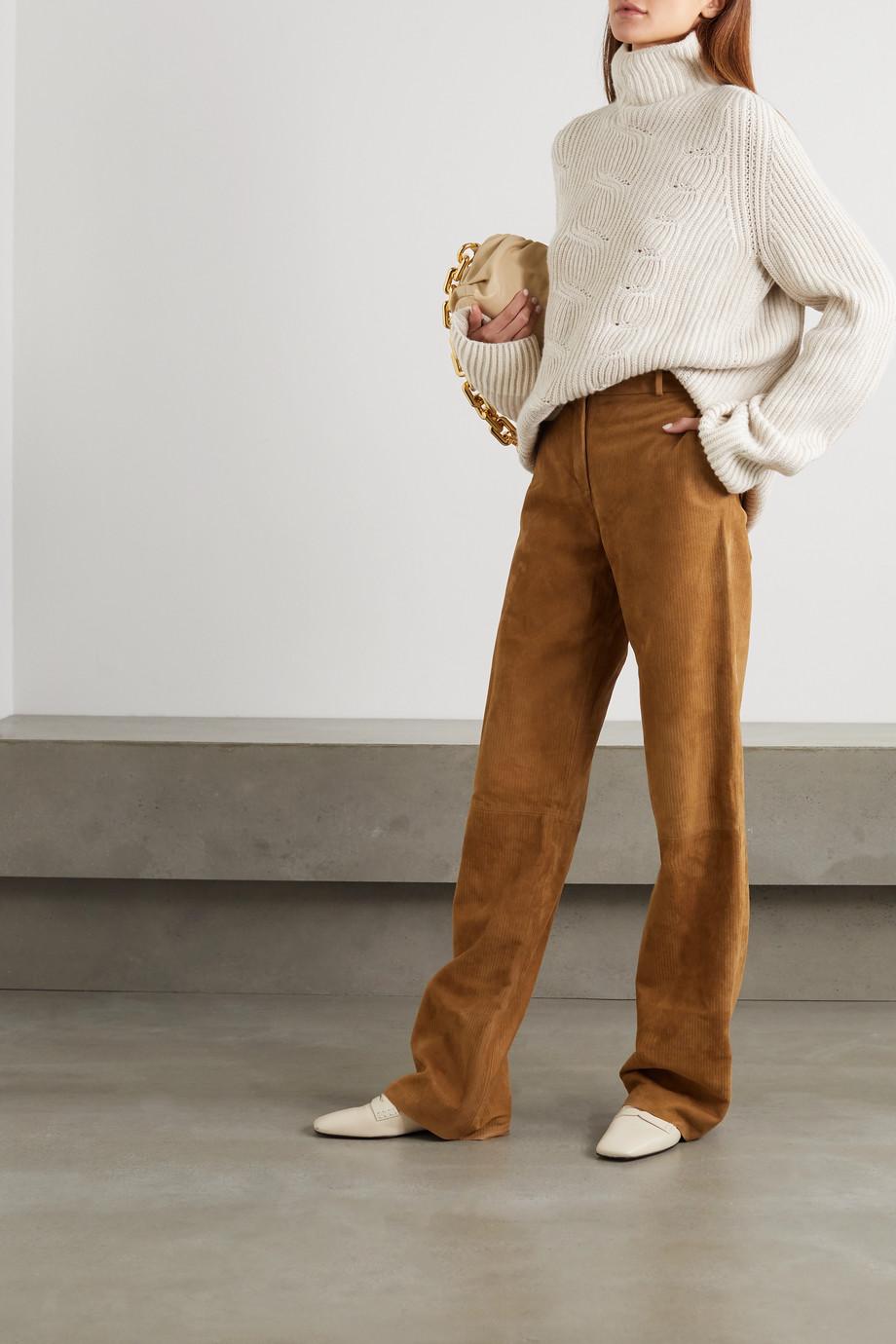 Loro Piana Williamsburg Pullover mit Stehkragen in Zopfstrick