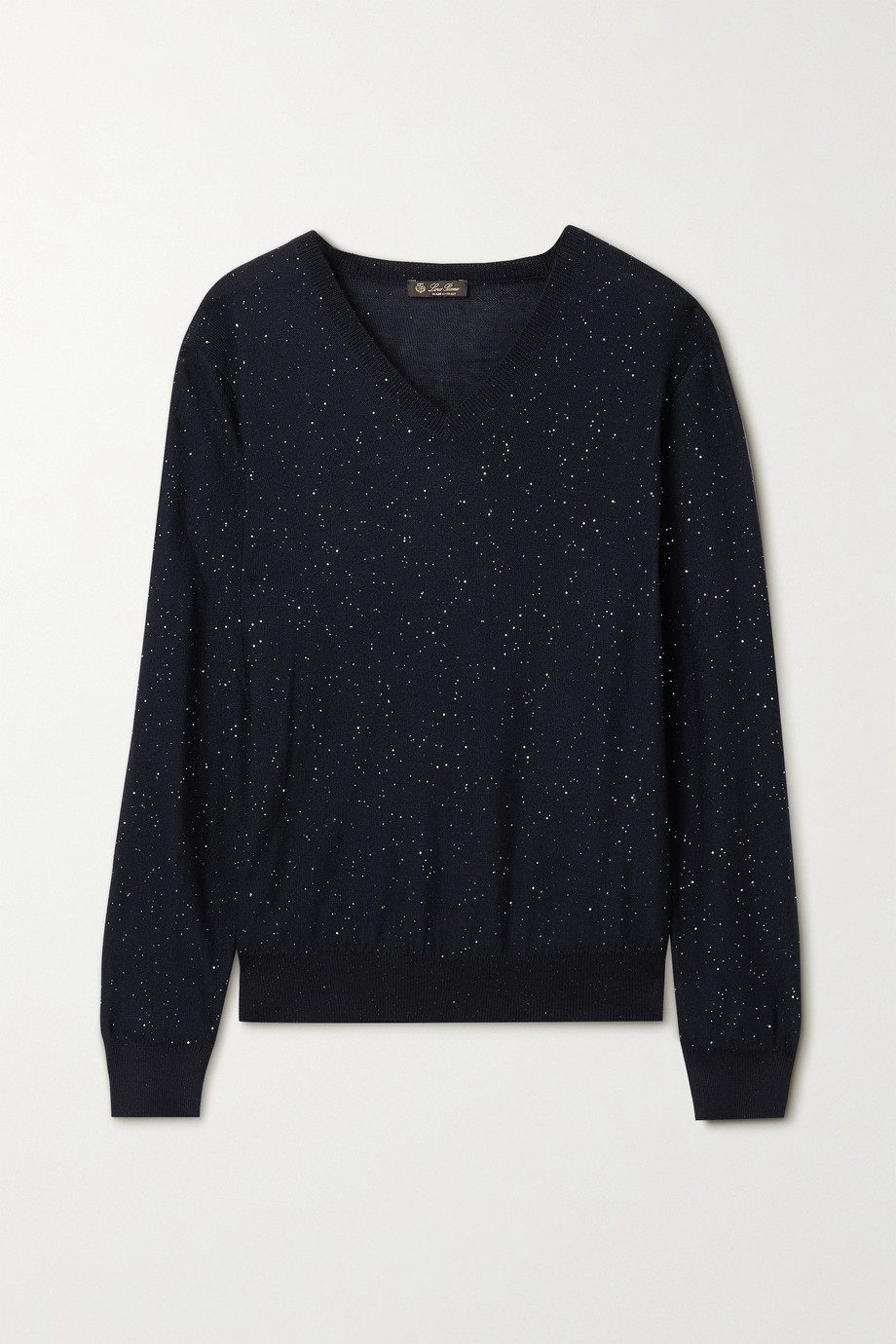 Loro Piana Sequin-embellished cashmere-blend sweater