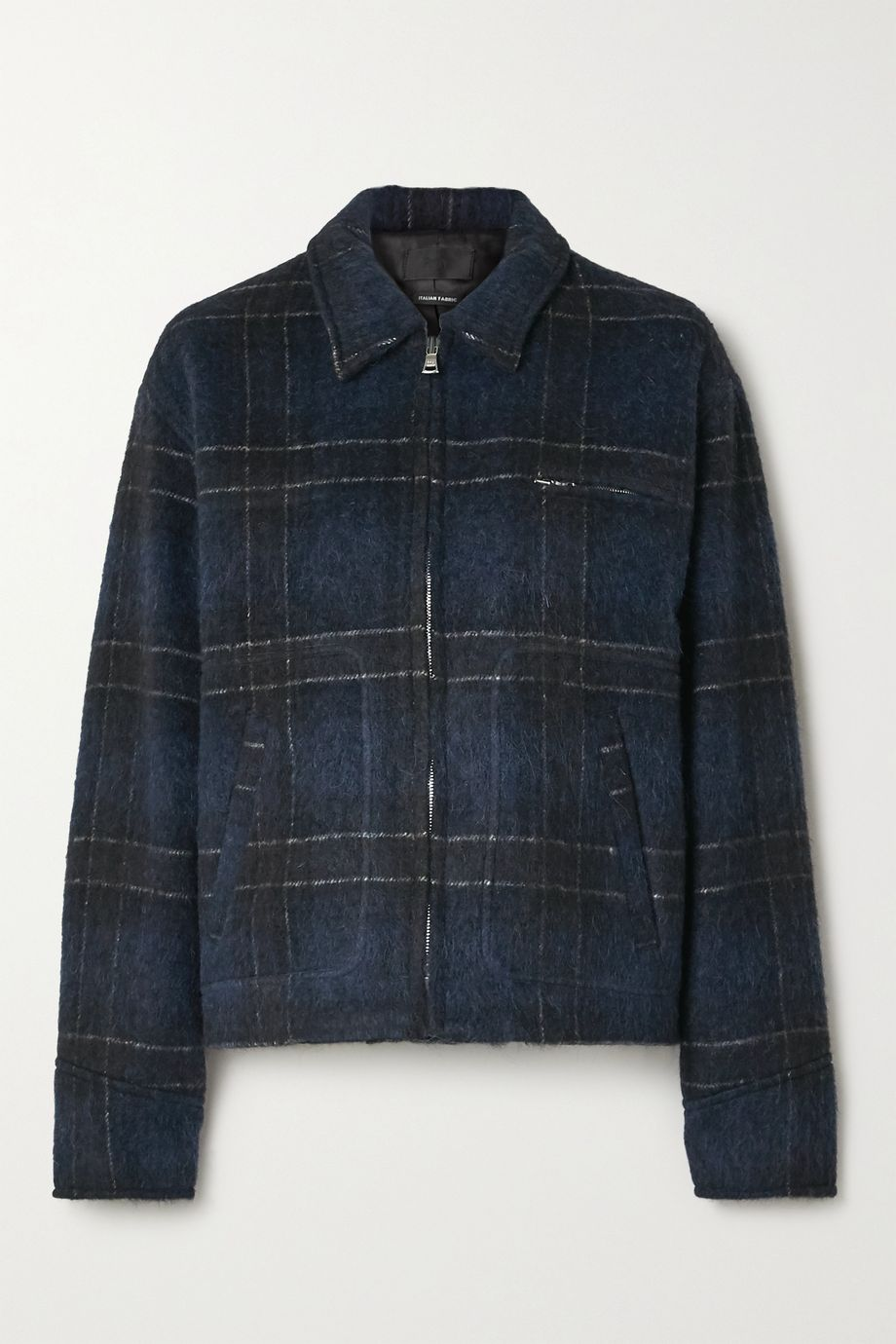 RtA Reese checked wool-blend jacket
