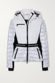 Erin Snow Kat hooded belted quilted ski jacket
