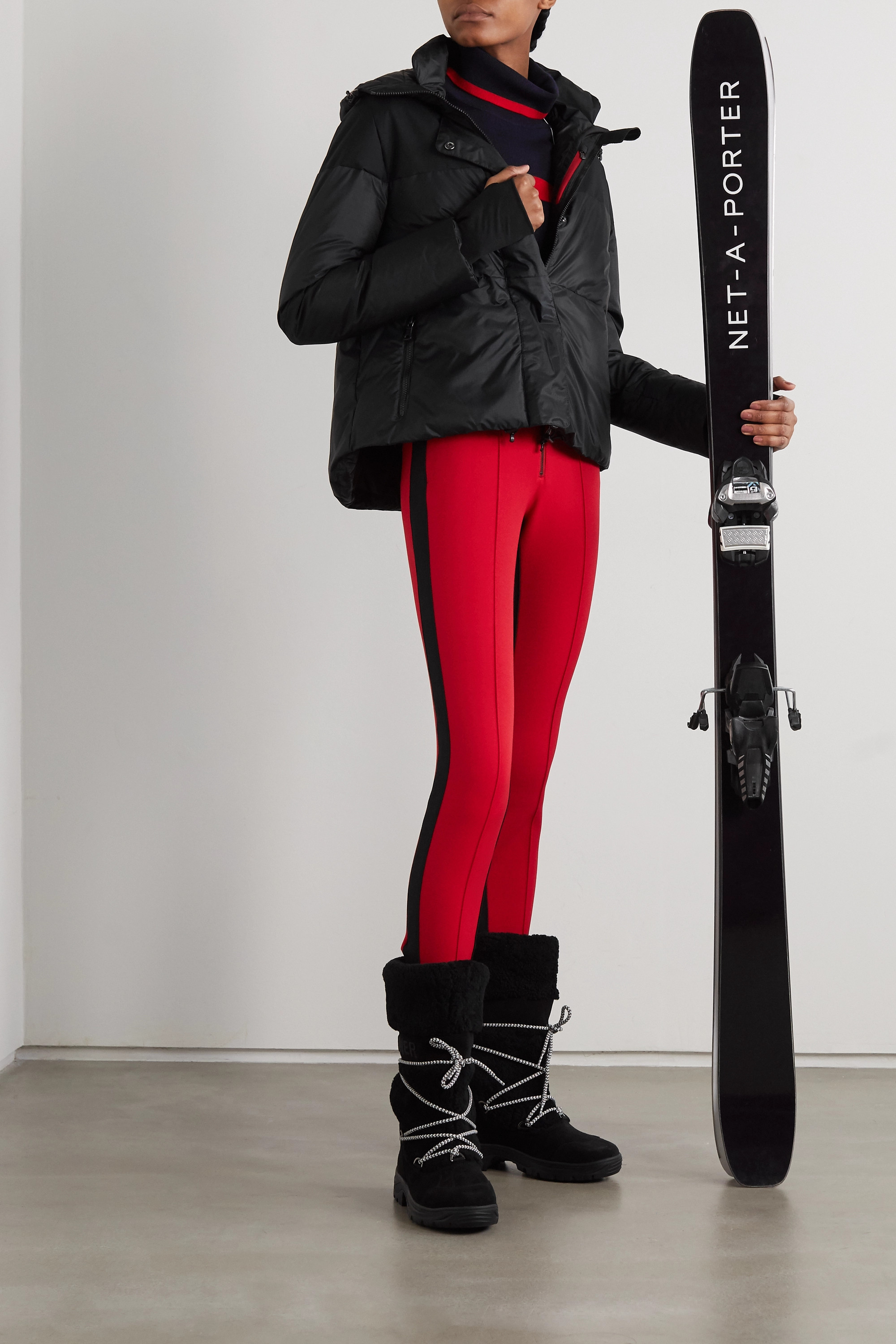Erin Snow Lolita hooded quilted ripstop ski jacket