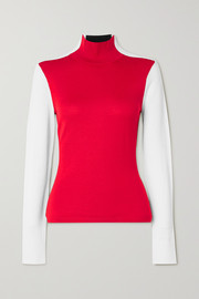 Erin Snow Masha color-block merino wool turtleneck sweater