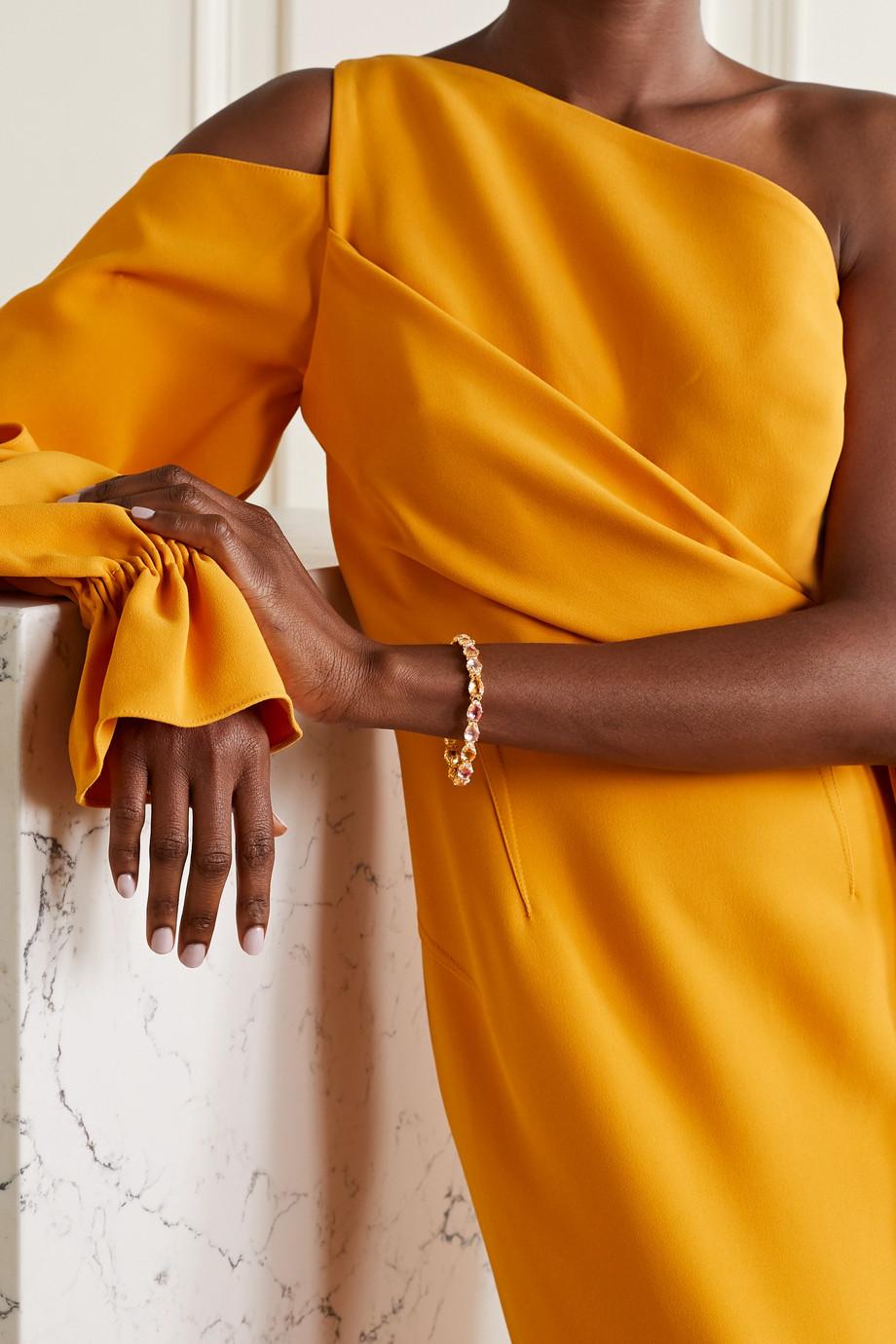 Larkspur & Hawk Caterina 18-karat gold-dipped quartz bracelet