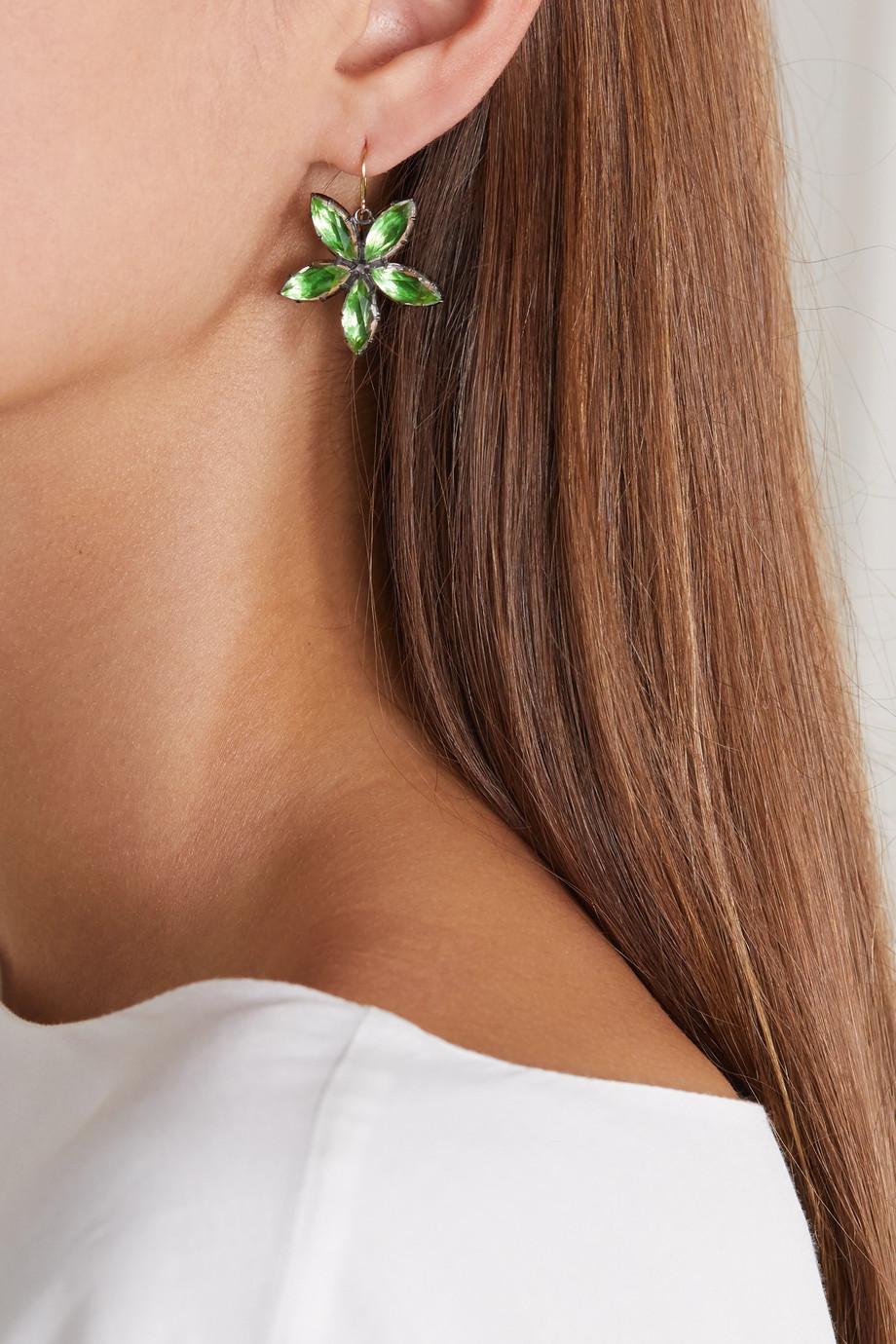 Larkspur & Hawk Sadie Astra rhodium-dipped quartz earrings