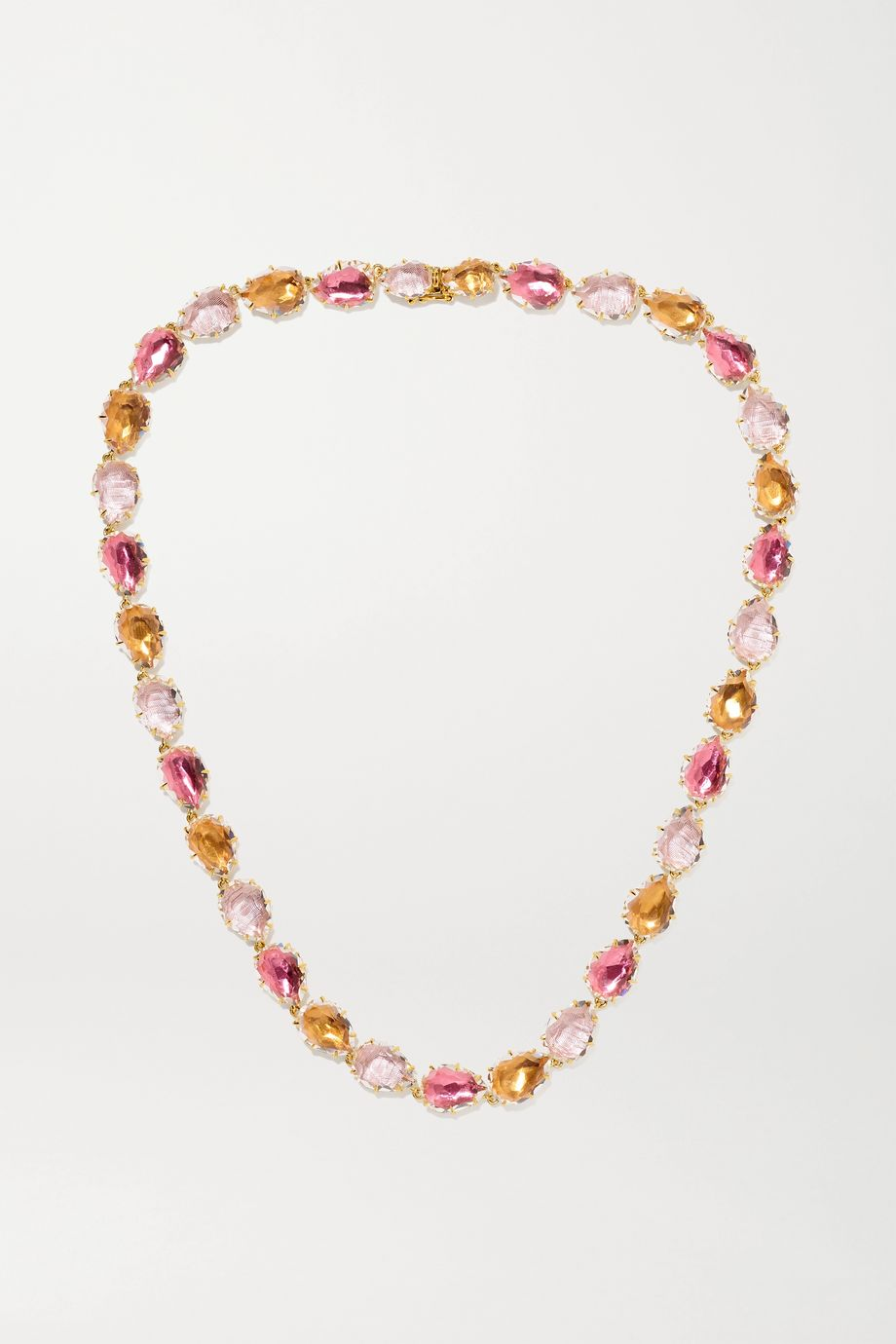 Larkspur & Hawk Caterina Rivière 18-karat gold-dipped quartz necklace