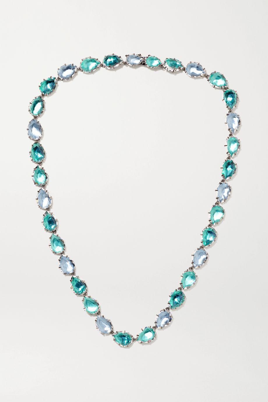 Larkspur & Hawk Caterina Rivière rhodium-dipped quartz necklace