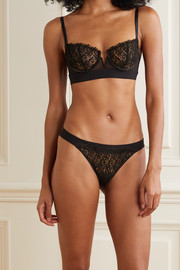 I.D. Sarrieri Guipure lace, tulle and microfiber briefs