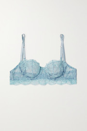 I.D. Sarrieri Embroidered tulle underwired balconette bra