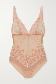 I.D. Sarrieri Annabelle embroidered tulle bodysuit