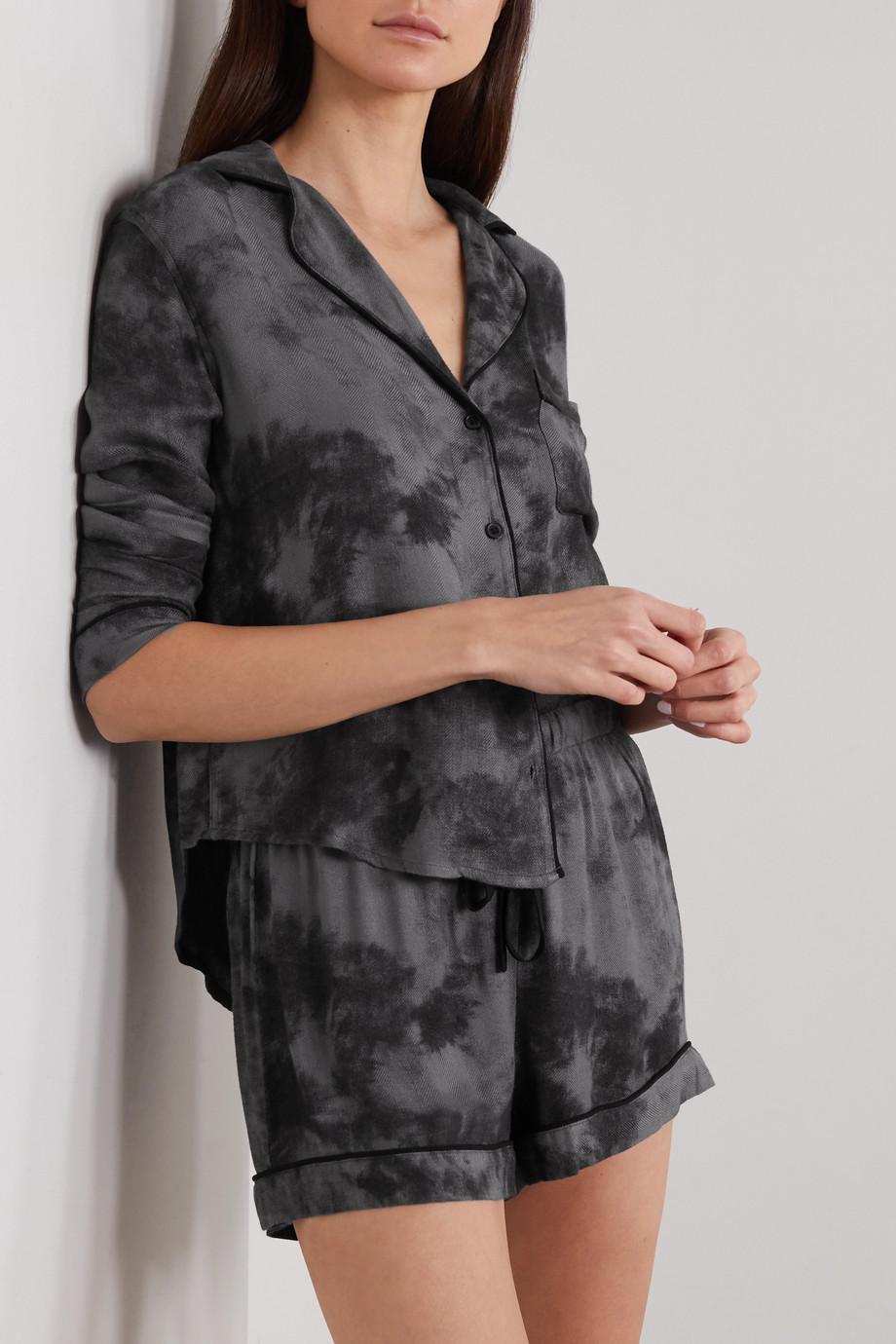 Rails Kellen tie-dyed flannel pajama set