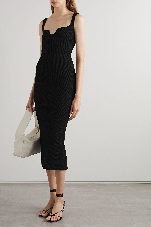 Khaite Nina ribbed-knit midi dress