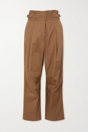Zimmermann Ladybeetle buckled cotton-twill tapered pants
