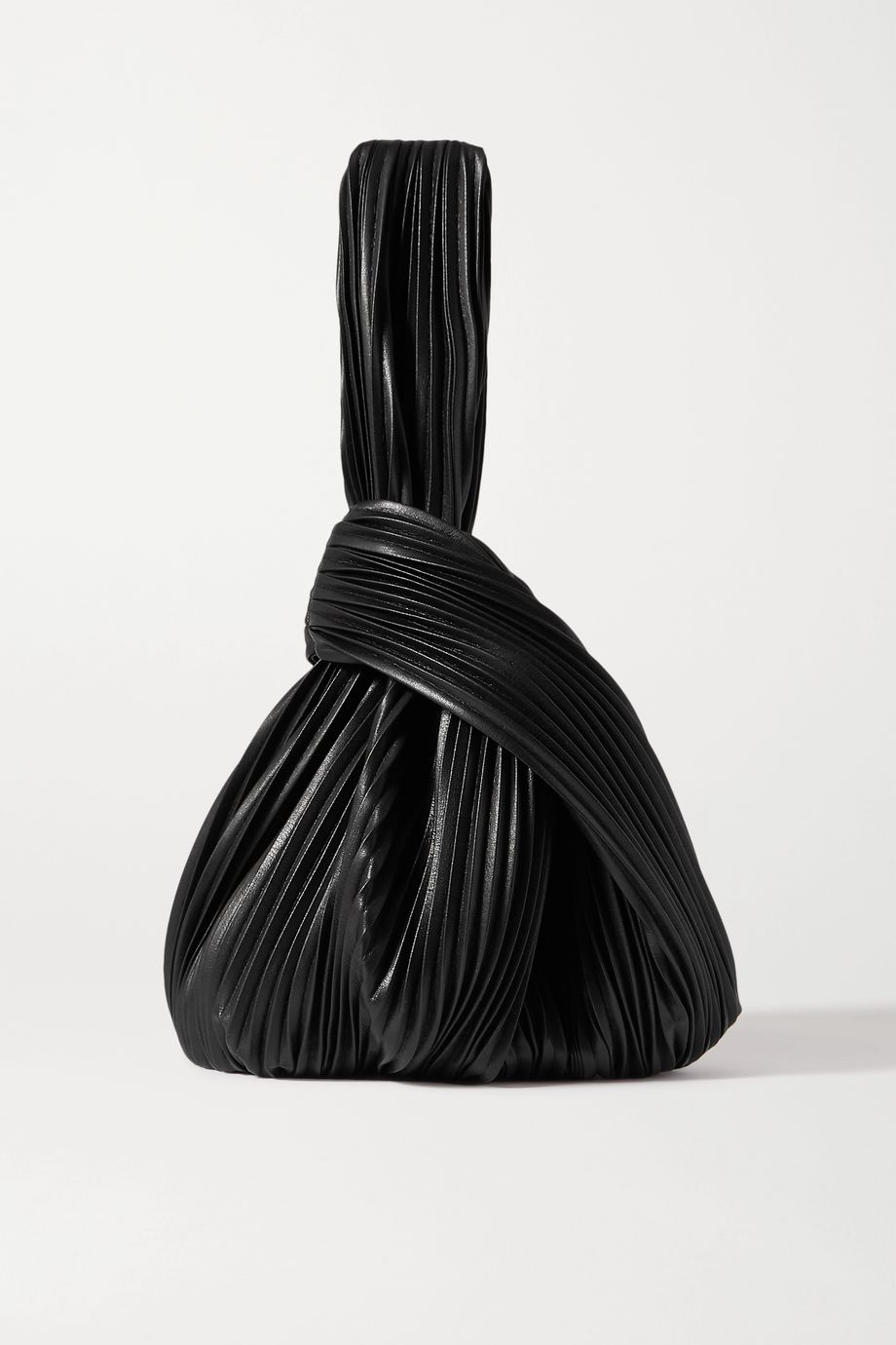 Nanushka Jen Tote aus veganem Leder mit Plissee und Knoten
