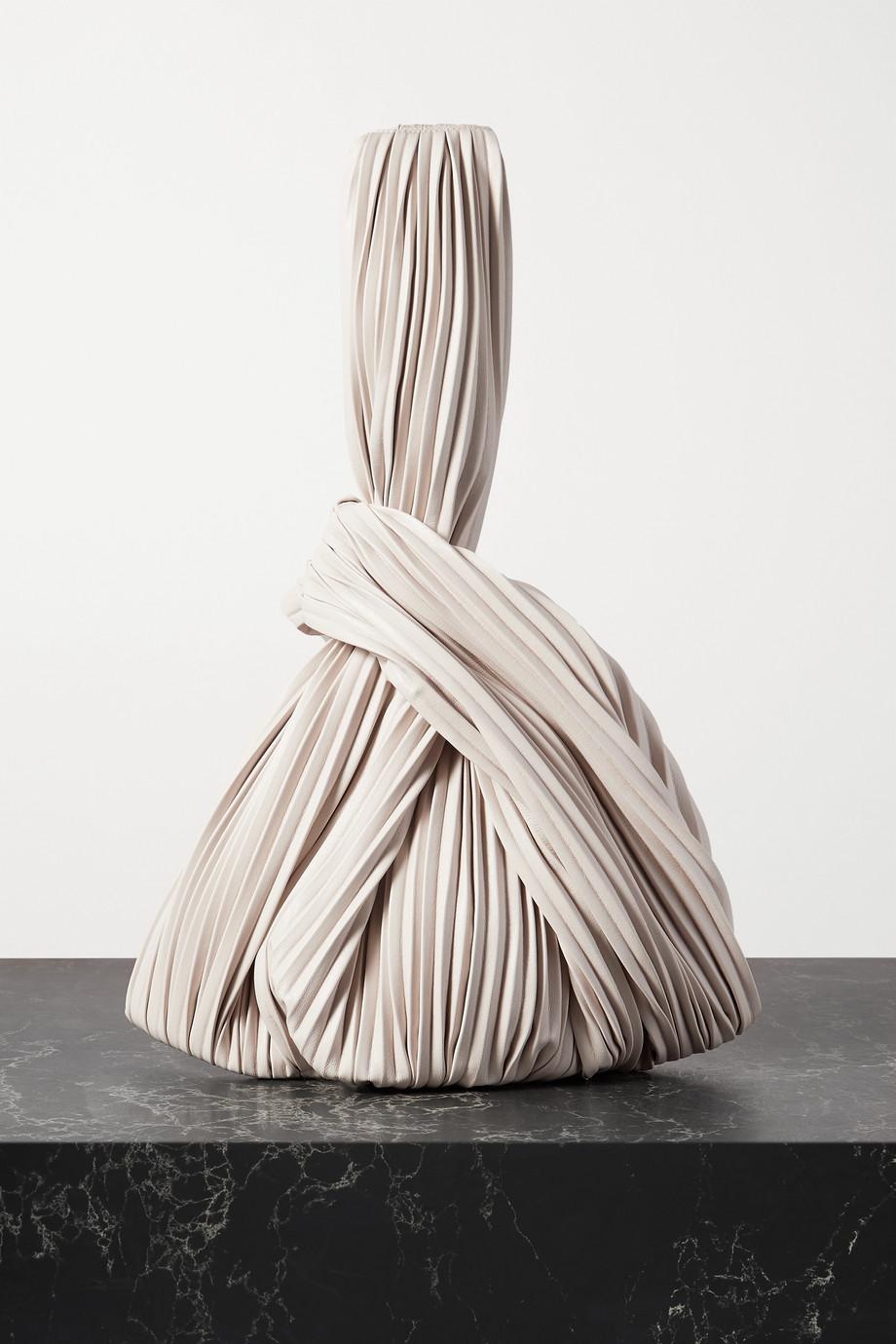 Nanushka Jen knotted pleated vegan leather tote