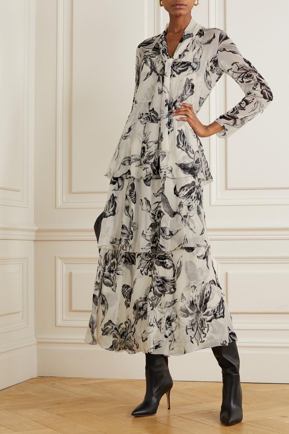 Diane von Furstenberg Anastasia tiered floral-print silk-chiffon maxi dress