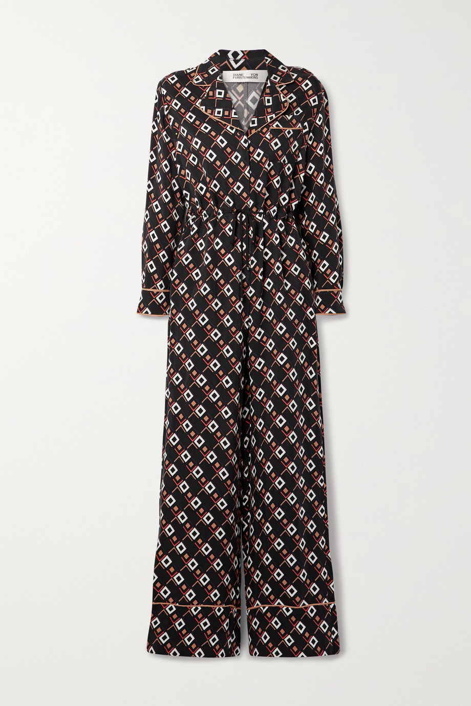 Diane von Furstenberg Cori 印花斜纹布连身裤
